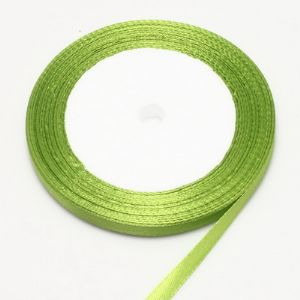 Ribbon, Satin, Olive-Green, 22m x 0.6cm (approximate), (SDD096)